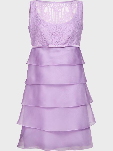 Фиолетовое шелковое платье на молнии Luisa Spagnoli
