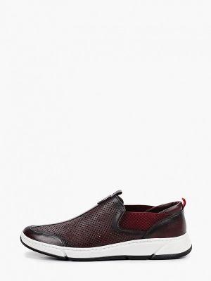 Красные кожаные кроссовки Nexpero