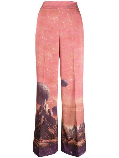 Свободные брюки с карманами розовый Pinko