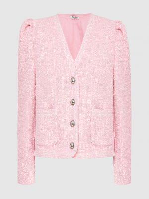 Пиджак твидовый - розовый Miu Miu
