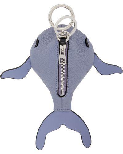 Niebieski charms srebrny pikowany Loewe