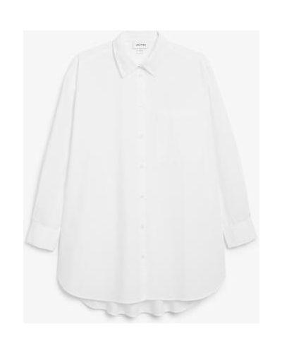 Белая блузка с длинными рукавами Monki