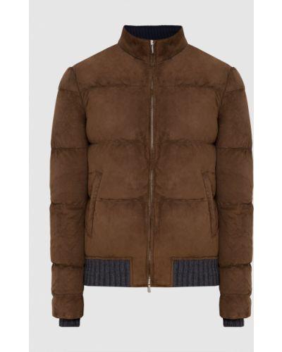 Замшевая куртка - коричневая Enrico Mandelli