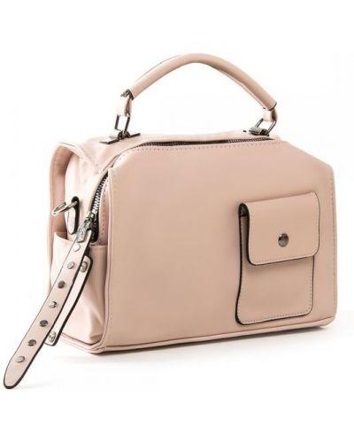 Розовая кожаная сумка через плечо на молнии Fashion