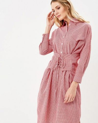 Платье платье-рубашка красный Brigitte Bardot