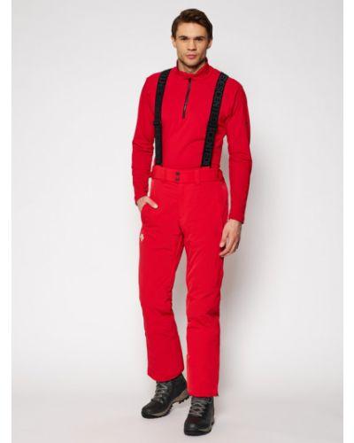 Czerwone spodnie Descente