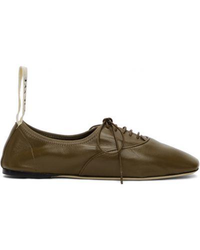Кожаные черные дерби на шнурках Loewe
