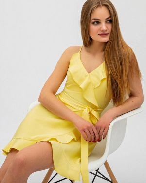 Однобортное желтое платье Itelle