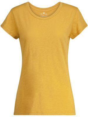 Ватная хлопковая желтая рубашка Velvet
