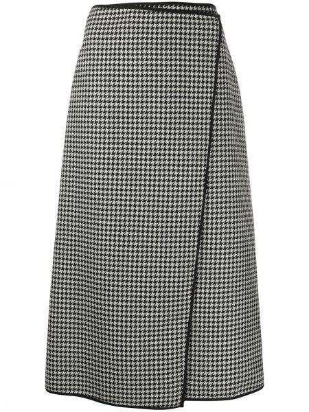 С завышенной талией вязаная юбка миди с запахом Escada