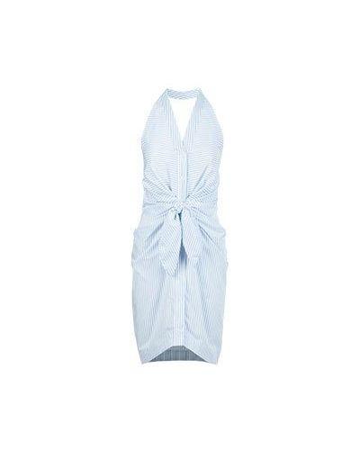 Хлопковое платье - голубое Blugirl