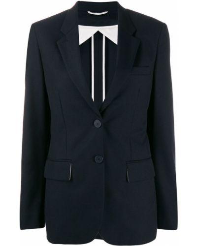 Синий классический пиджак с карманами Maison Flaneur