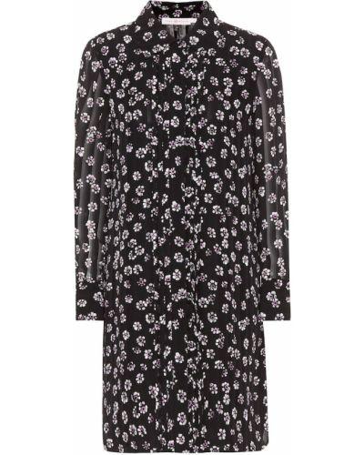 Платье с цветочным принтом шелковое Tory Burch