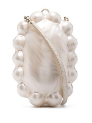 Biała torebka perły z jedwabiu Simone Rocha