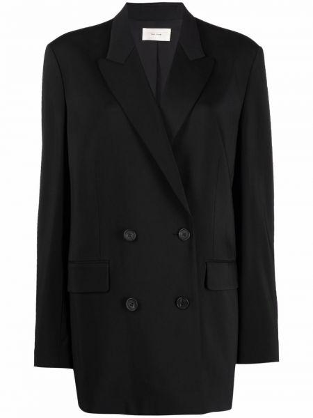 Черный пиджак двубортный The Row