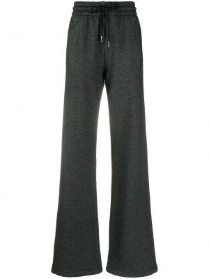 Czarny bawełna szerokie spodnie z kieszeniami bezpłatne cięcie Off-white