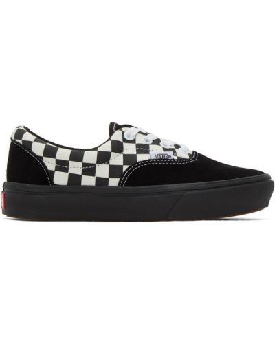 Ажурные черные кроссовки на шнуровке на каблуке Vans