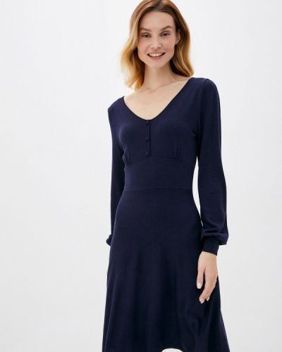 Прямое синее платье Springfield