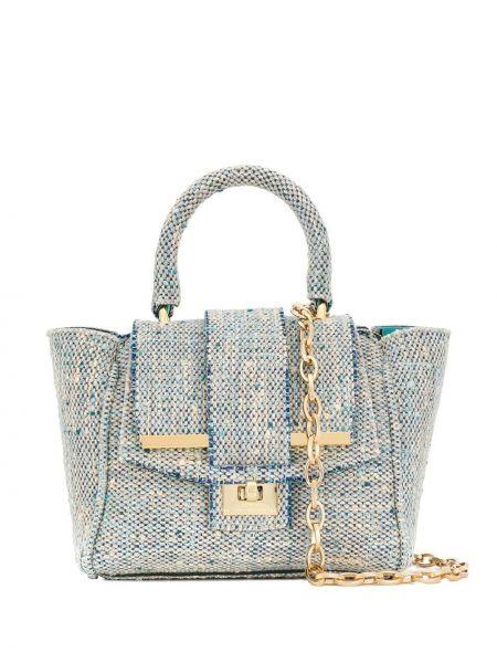 Синяя сумка через плечо с перьями Alila