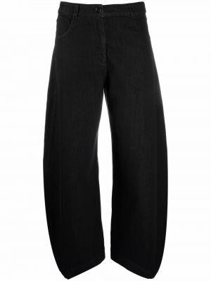 Черные хлопковые брюки Henrik Vibskov