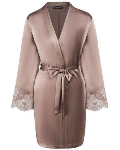 Ватный шелковый халат с поясом Cotton Club