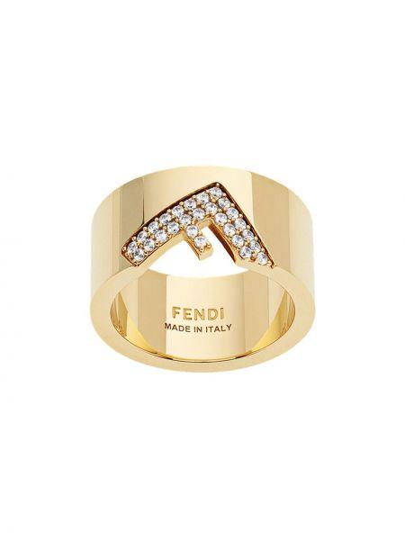 Biały złoty pierścionek Fendi