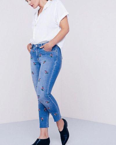 Синие джинсы-скинни Violeta By Mango