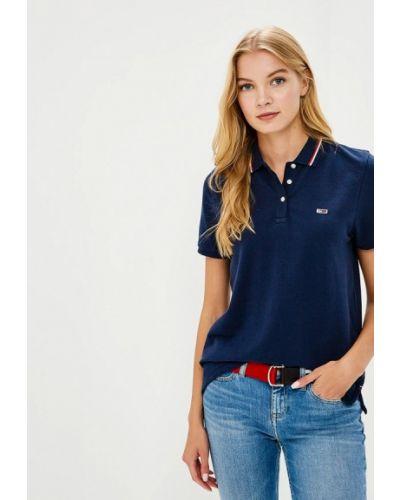 Синее поло Tommy Jeans