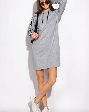 Повседневное платье с поясом прямое Time Of Style