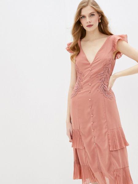 Платье коралловый прямое Little Mistress