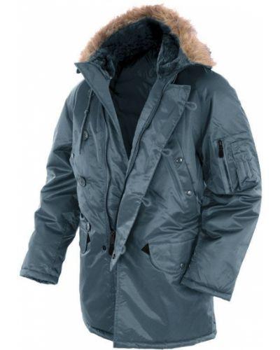 Куртка с капюшоном - синяя Mil-tec