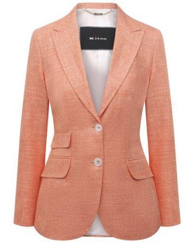 Шерстяной пиджак - оранжевый Kiton