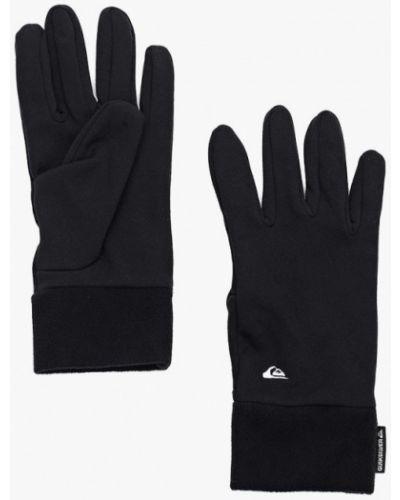 Черные перчатки текстильные Quiksilver