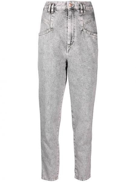 Серые зауженные джинсы-скинни на пуговицах Isabel Marant