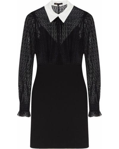 Платье мини платье-рубашка с отложным воротником Maje