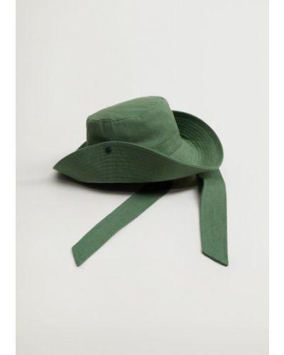Zielony kapelusz Mango