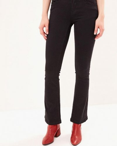 Широкие джинсы расклешенные черные Kiss Pink