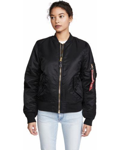 Черная длинная куртка MA-1 с подкладкой с длинными рукавами Alpha Industries