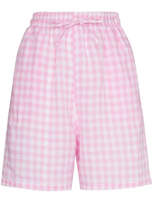 Розовые шорты на шнурках в клетку Frankie's Bikinis