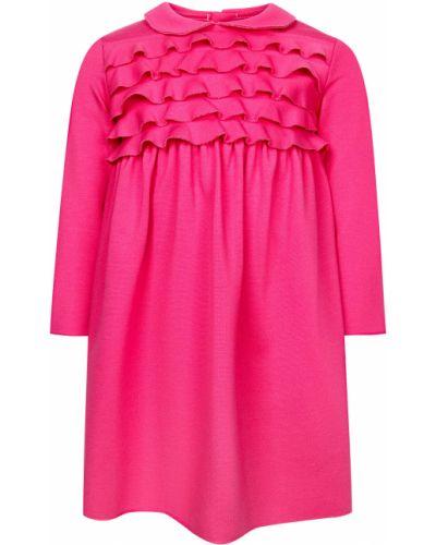 Платье из вискозы - розовое Il Gufo