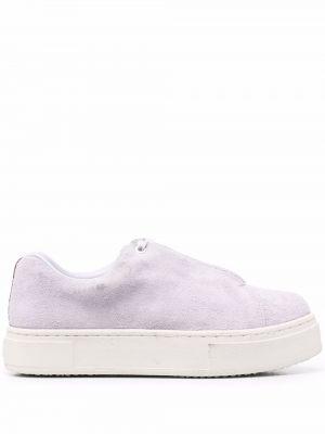 Fioletowe sneakersy koronkowe Eytys