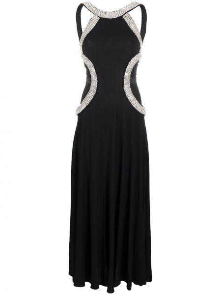 Платье без рукавов - черное John Richmond