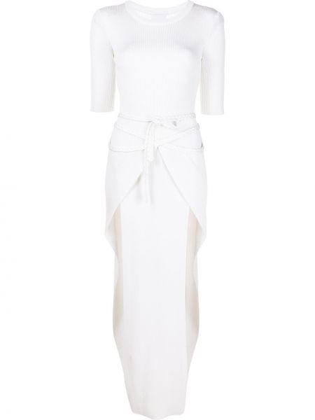 Платье мини короткое - белое Bevza