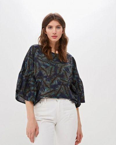 Блузка с коротким рукавом синяя весенний Fashion.love.story