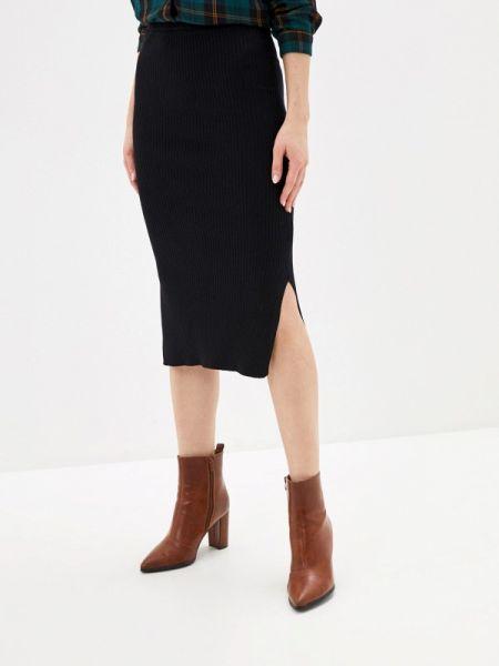 Черная юбка узкого кроя Sela
