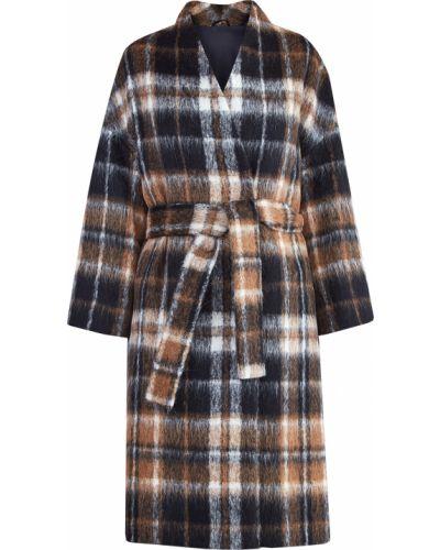 Укороченное пальто в клетку из альпаки Brunello Cucinelli