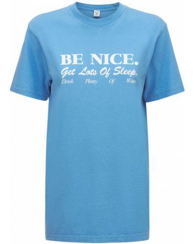 Синяя футболка с принтом Sporty And Rich