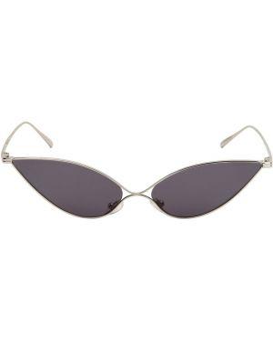 Okulary srebrne Pushbutton