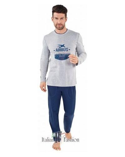 Хлопковые брюки - серые Italian Fashion