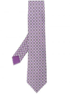 Фиолетовый галстук Hermès Pre-owned